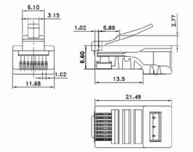 High quality amp CAT5E cat6 RJ45 UTP 8p8c Modular Plug