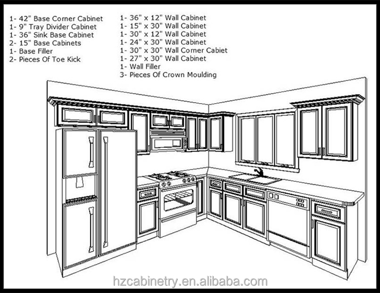 China Made Best Materials For Modular Kitchen Cabinet Used