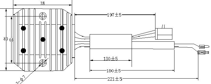 Full Wave Three Phase 12v Motorcycle Voltage Regulator