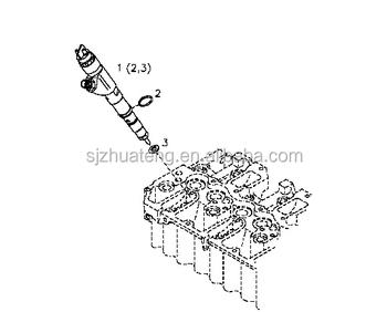 Original Bosch Common Rail Fuel Injector 04290986,Tcd 2013