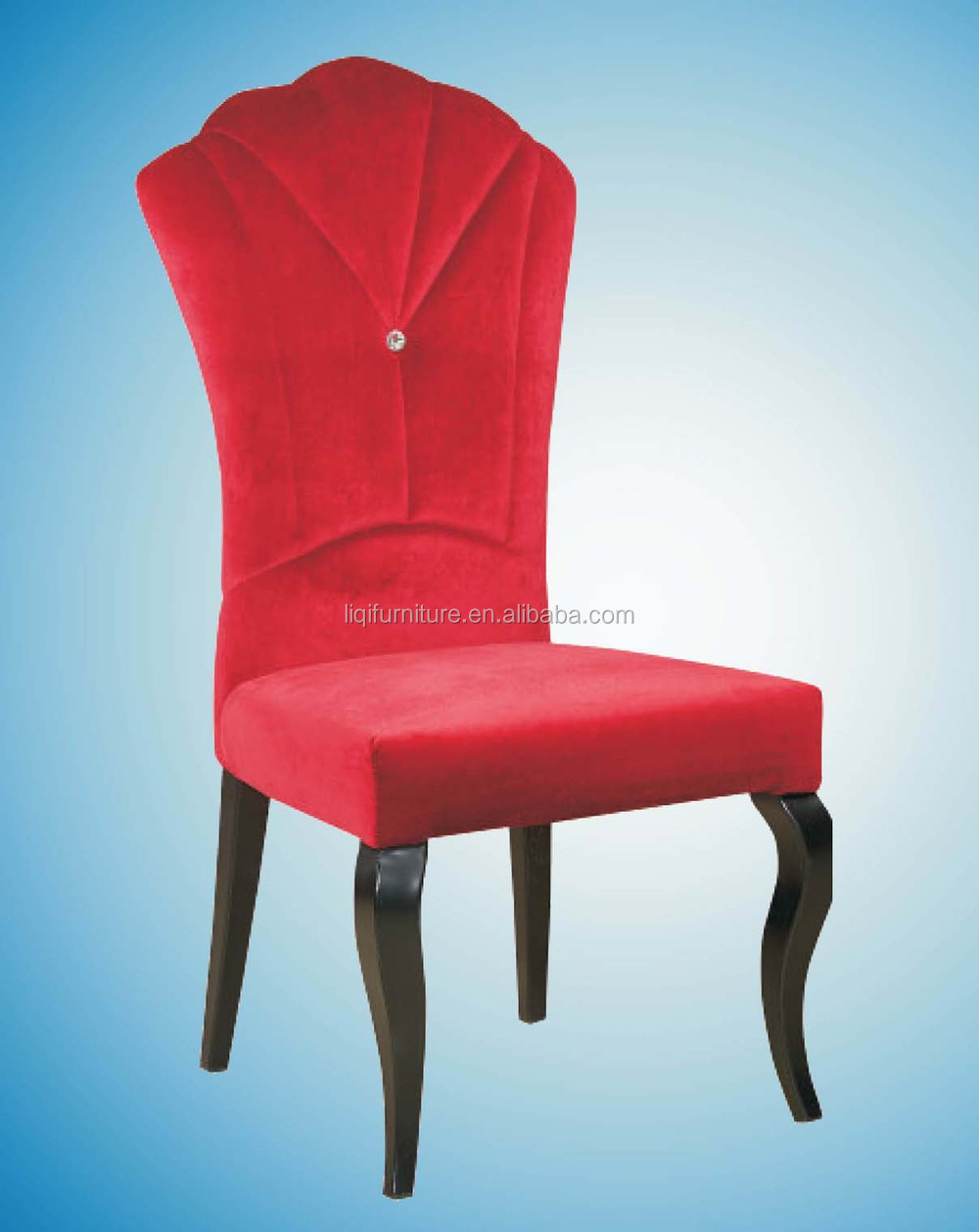 Red Upholstered Dining Chairs Red Velvet Elegant Comfortable Upholstered Luxury High Crown Back Dining Chair Ql E102 Buy Hotel Luxury Dining Chair Velvet Dining Chairs Crown Back