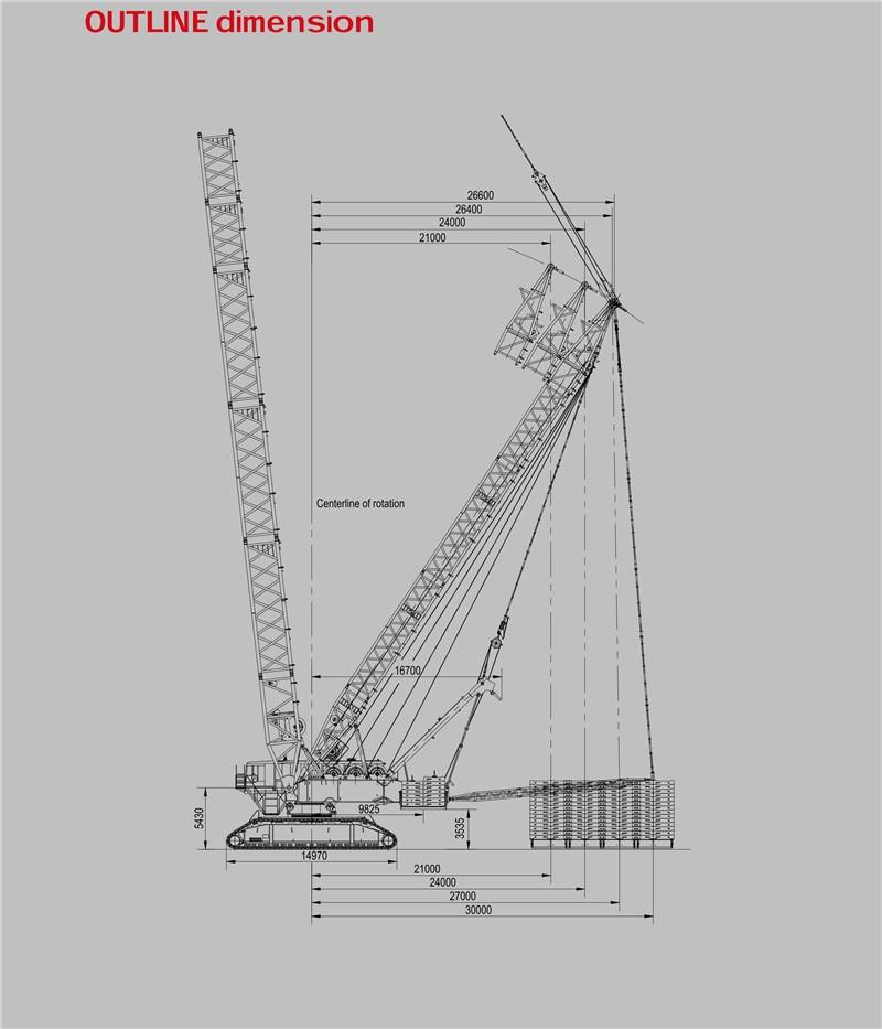 Sany Scc16000 1600 Ton Hoisting Machinery Hydraulic