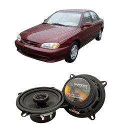get quotations fits kia sephia 1998 2001 front door factory replacement speaker harmony ha r5 speakers [ 1000 x 1000 Pixel ]