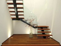 Antique Design Interior U Shape Single Stringer Stair With ...