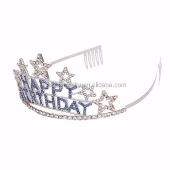 Factory Wholesale Cheap Rhinestone Happy Birthday Letter