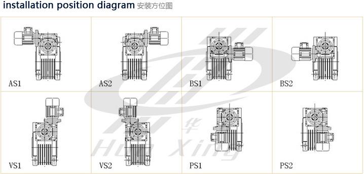 Nmrv/nrw030-063 Variator Speed Reducer Gearbox Used In