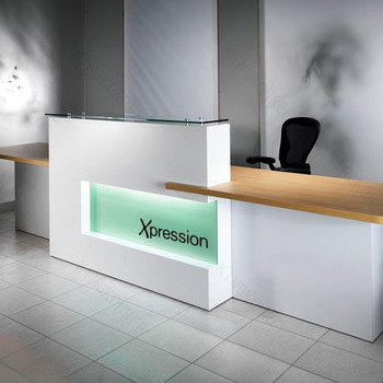 New Design Office Reception Desk With Wood Decoration