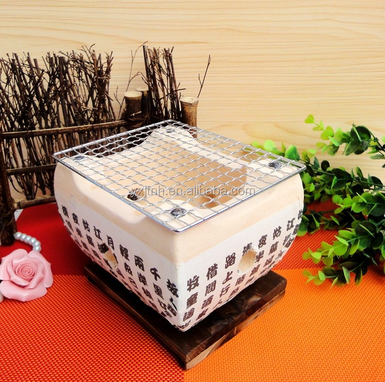 Indoor Japanese Ceramic Charcoal Barbecue Hibachi Bbq