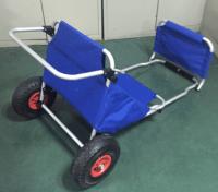 Aluminum Small Beach Cart With Wheels Folding Beach Chair ...