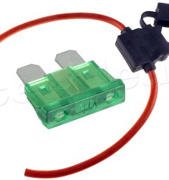 buy 8 gauge inline atc fuse holder with 30 amp fuse with cover new car truck [ 1500 x 1200 Pixel ]