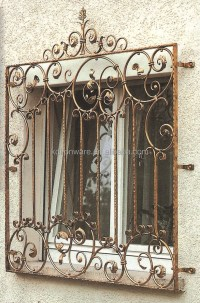 Decorative Metal Flowers Wrought Iron Window Grill Design ...