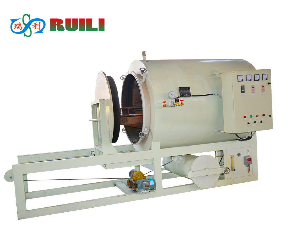 hight resolution of clean plastic granulate machine filter pyrolysis vacuum cleaning furnace