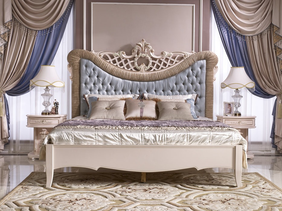 Royal Luxury Bedroom Set,Classic French Elegant Bed