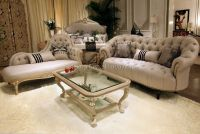 French Style Living Room Furniture Set Wood Living Room ...