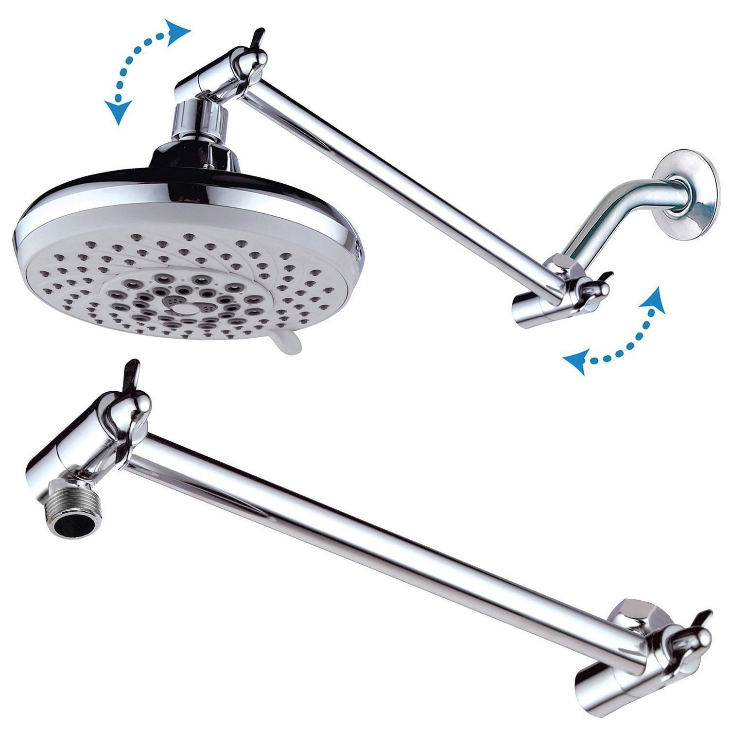 Buy Shower Head Adjustable Height Arm Extension In Cheap