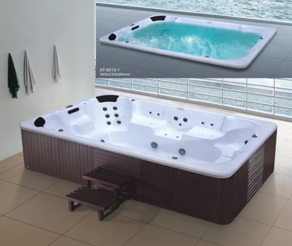 Large Size Acrylic Massage Bubble Bath Spa Hot Tub