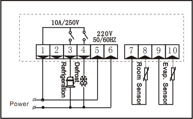 RINGDER RC-220M Digital Refrigeration Thermostat