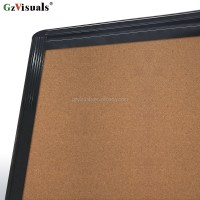 Double Sided Mobile Bulletin Cork Board With Easel