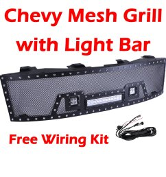 get quotations ohmu chevrolet chevy silverado front mesh grill grille for 2007 2013 chevy silverado 1500 pick [ 1500 x 1500 Pixel ]