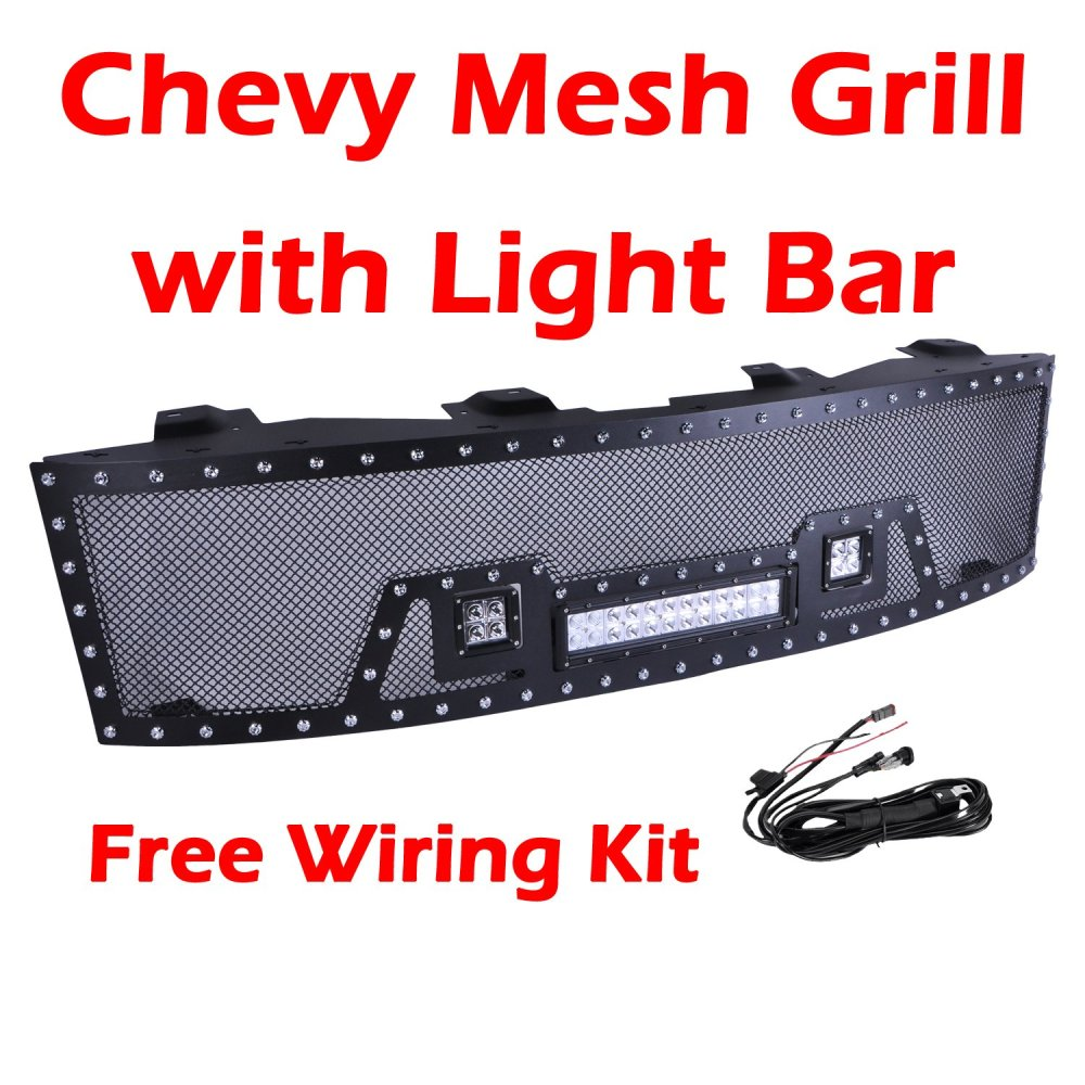 medium resolution of get quotations ohmu chevrolet chevy silverado front mesh grill grille for 2007 2013 chevy silverado 1500 pick