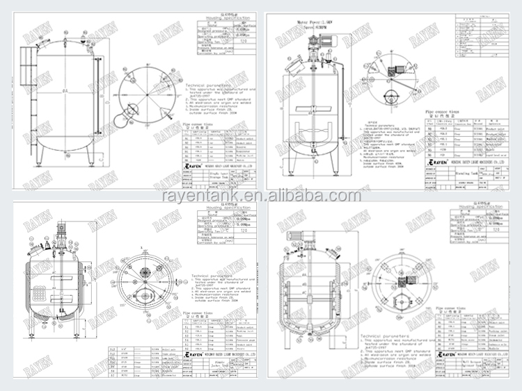 Food Grade Stainless Steel Chemical Mixing Equipment Types