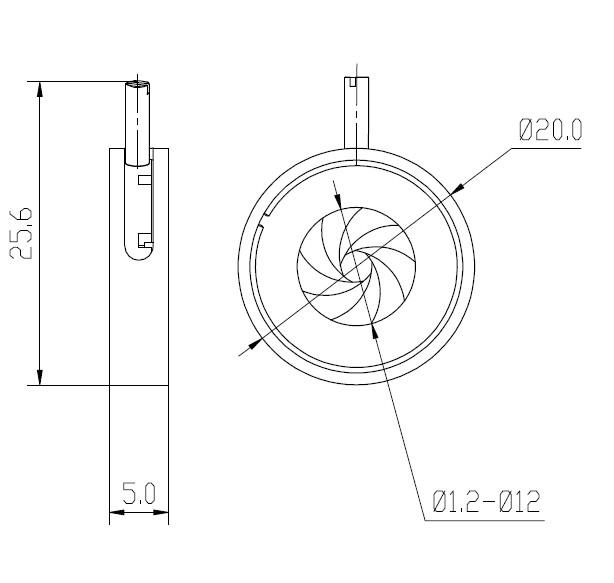 Adjustable Iris Aperture/diaphragm For Laser Beam Lsgl1-12