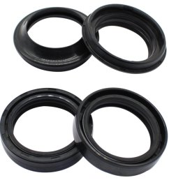 get quotations cyleto front fork oil seal and dust seal kit 37 x 50 x 11mm for honda [ 1001 x 1001 Pixel ]