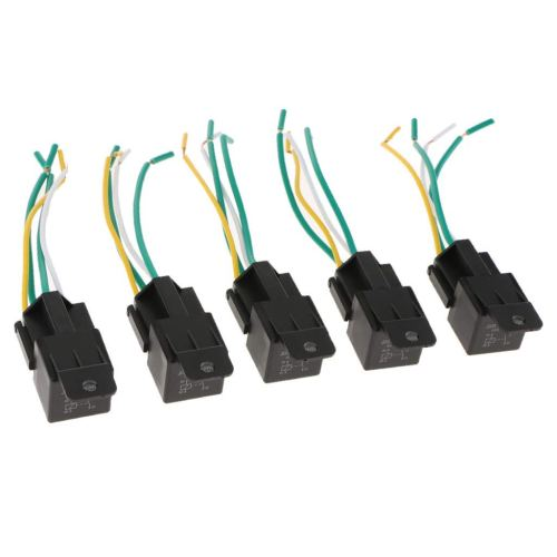 small resolution of get quotations baosity 5pcs electric fan relay 4 wires harness 24v 40amp normally open contact