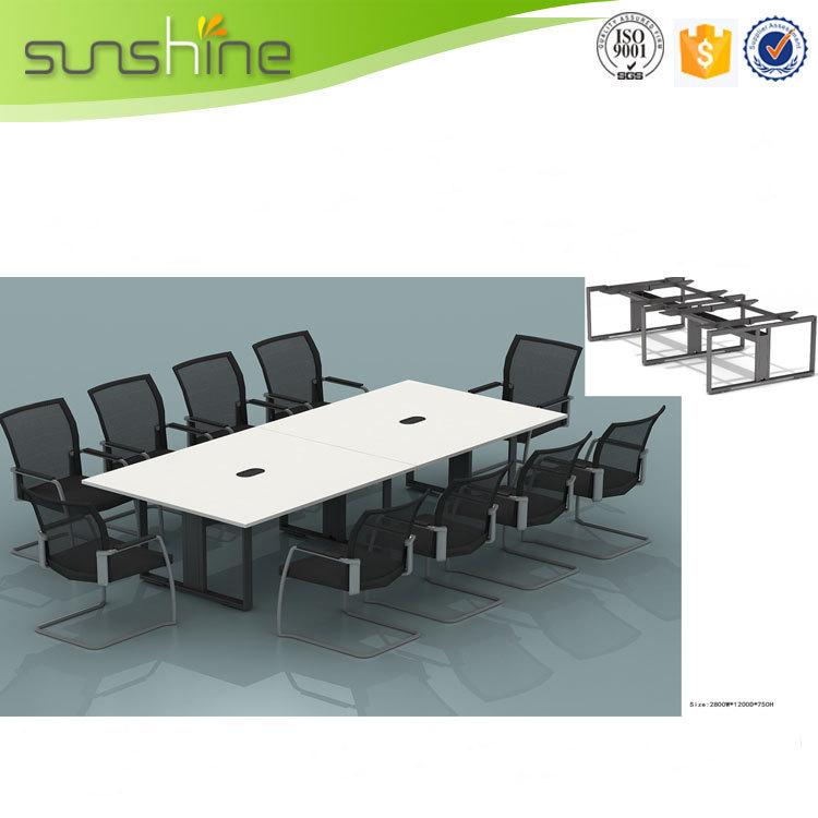 Muebles de oficina larga mesa i en forma de negociacin
