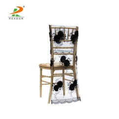 Chair Back Covers Wedding Dining Slip Uk Wholesale Vintage Veil Embroidery Cheap Half For Banquet Buy