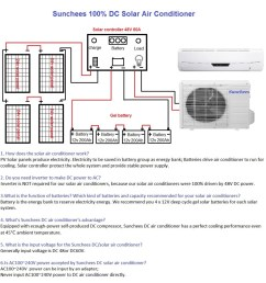 12000 btu 100 solar air conditioning solar split air conditioner 12 18hrs day [ 1000 x 1040 Pixel ]
