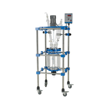 100l Biological Pharmacy Jacketed Double Glass Reactor