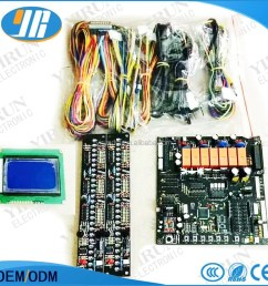 taiwan mother board crane game pcb slot game board with wire harness [ 1000 x 1000 Pixel ]