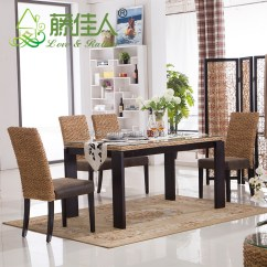 Wooden Hand Chair Bali Wingback Covers Gray Java Home Living Sunroom Natural Rattan Water Hyacinth Bamboo Dining Table Chairs Set Style ...
