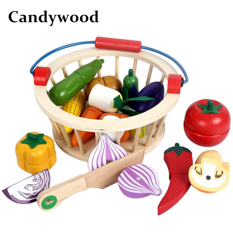 Candywood Madre da giardino In Legno Cestino Cucina Giocattoli Gioco ...