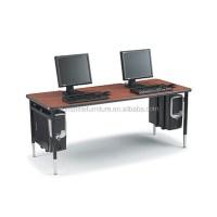 Cheap Modern Design Wooden Long 2 Person Computer Table
