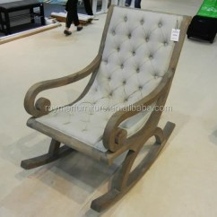 Wood Rocking Chair Styles Ted Modern Barrel French Style Hot Sale Linen Upholstered Antique Wooden Chairs