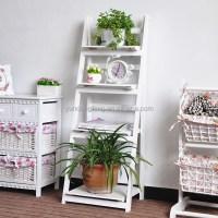 Zakka Garden Wood Folding Flower Pot Shelf / Flower Shelf ...