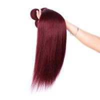 Free Shipping Color 99j Hair Weave Red Braiding Hair Piece ...