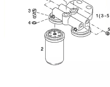 Deutz TCD2012 spin-on fuel filter 01182671, View 01182671