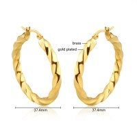 Bisuteria Hoop Earrings 24 Carat Gold Earrings