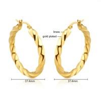 Bisuteria Hoop Earrings 24 Carat Gold Earrings - Buy 24 ...