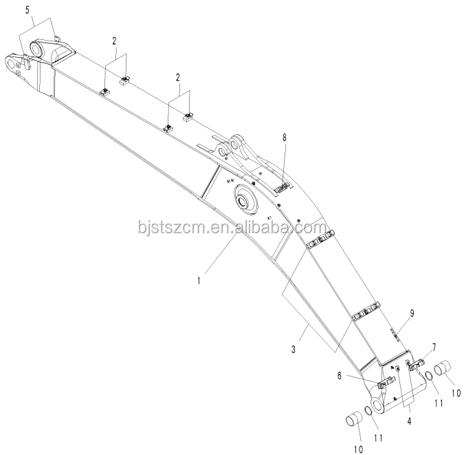 High Quality And Cheap Price Of Excavator Pc400 Pc450 Boom