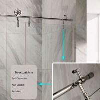 Luxury Style Shower Barn Door Sliding Glass Shower Door ...