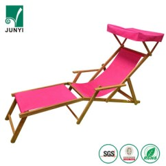 Outdoor Folding Lounge Chairs Furry Bean Bag Chair Reclining Sun Beach Deck Wood Camping Fishing Arm Rest