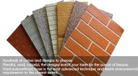 Pu Foam 3d Metal Decorative Insulation Exterior Wall Panel