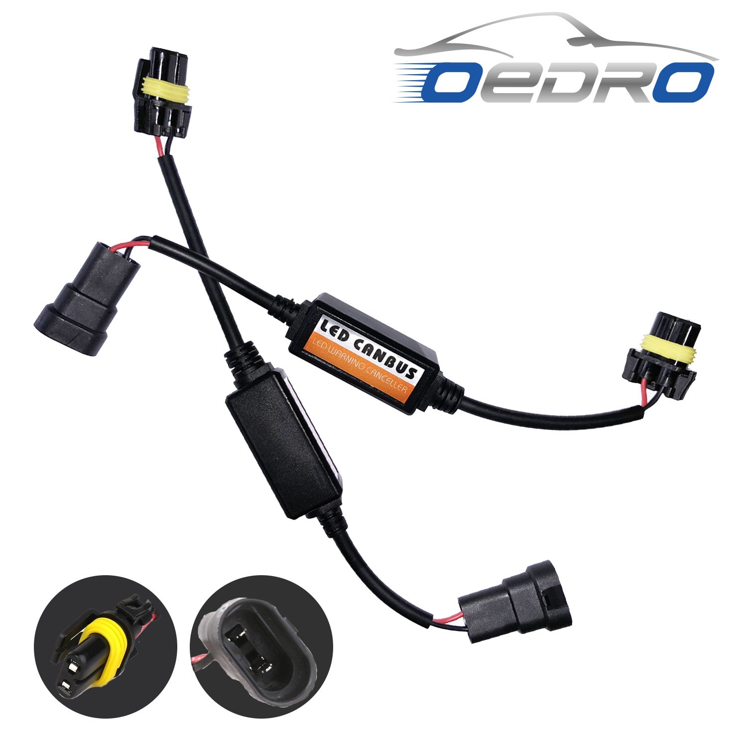 hight resolution of oedro 9005 hb3 9006 hb4 9012 led conversion kit headlight canbus error free anti flickering resistor