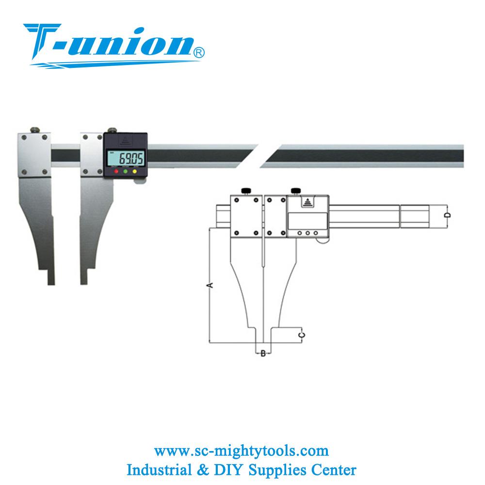 hight resolution of aluminum inner groove digital caliper digital caliper with nib style jaws
