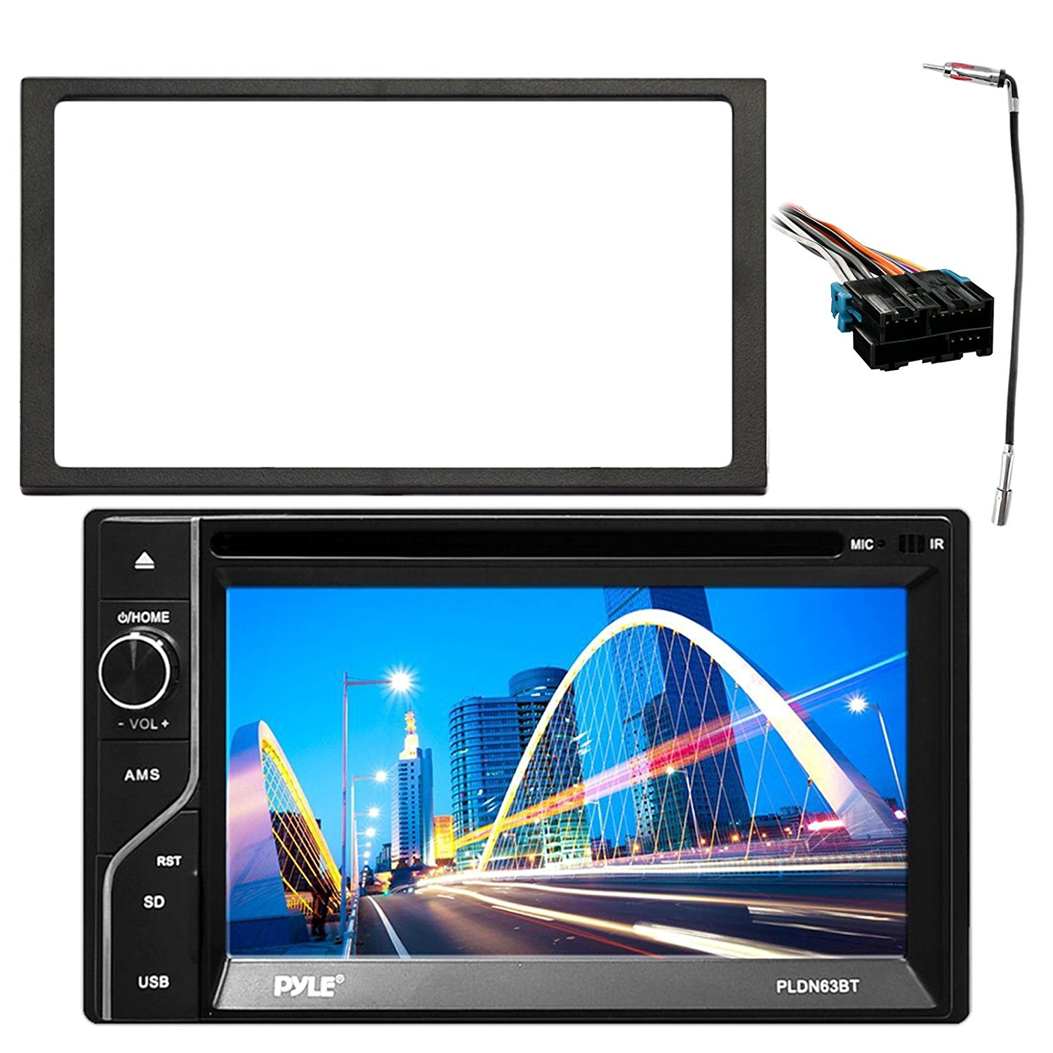 hight resolution of get quotations enrockautomotive pldn63bt egmdk90up pyle 6 5 2 din in dash touchscreen mp3