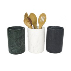 Kitchen Tool Holder Accessories Black White Marble Utensil Buy